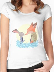 Zootopia Love Women's Fitted Scoop T-Shirt