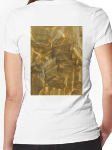 Burnished Metal, Engineer, Metal Worker, Steel, Alloys, Brass, Bronze Women's Fitted V-Neck T-Shirt