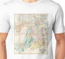 Vintage Map of Boston Massachusetts (1896) Unisex T-Shirt