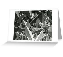 Kidney stone electron micrograph Greeting Card