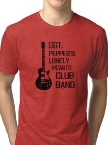Sgt Pepper Lonely Hearts Club Band Beatles Lyrics Tri-blend T-Shirt