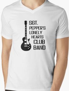 Sgt Pepper Lonely Hearts Club Band Beatles Lyrics Mens V-Neck T-Shirt