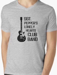 Sgt Pepper Lonely Hearts Club Band Beatles Lyrics Mens V-Neck T-Shirt