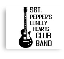 Sgt Pepper Lonely Hearts Club Band Beatles Lyrics Canvas Print
