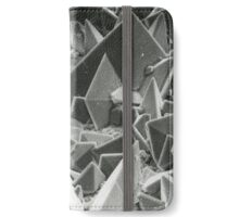Kidney stone electron micrograph iPhone Wallet/Case/Skin