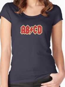 Vintage ABCD Rock & Roll Women's Fitted Scoop T-Shirt