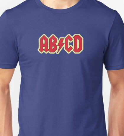 Vintage ABCD Rock & Roll Unisex T-Shirt