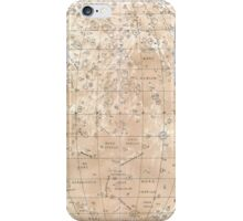 Vintage Map of The Moon (1898) iPhone Case/Skin