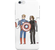 Captain America and The Winter Smoulder  iPhone Case/Skin