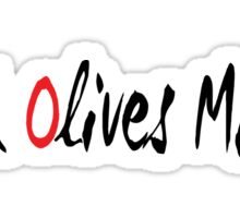 Black Olives Matter Sticker