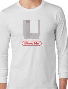 Blow Me - Vintage Nintendo Cartridge Long Sleeve T-Shirt