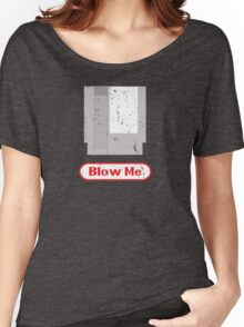 Blow Me - Vintage Nintendo Cartridge Women's Relaxed Fit T-Shirt