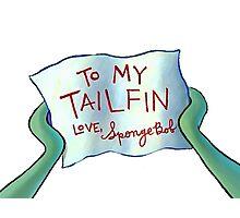 To my tailfin Photographic Print