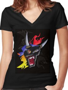 Born to Raise Hell.  Women's Fitted V-Neck T-Shirt