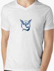 Pokemon Team Mystic Galaxy Blue Mens V-Neck T-Shirt