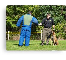 Police K-9 Training Canvas Print