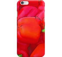 RainbowConfetti Farmers Market: Red Peppers iPhone Case/Skin