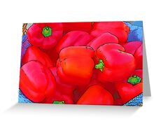 Farmers Market: Red Peppers Greeting Card
