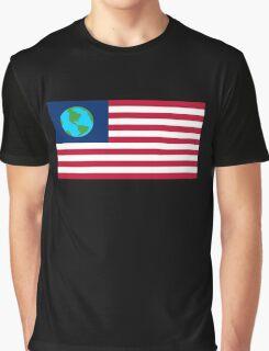 Futurama Earthican Flag Graphic T-Shirt