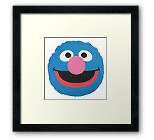 grover face Framed Print