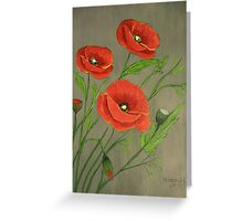 Poppies-3 Greeting Card