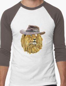 Funny Lion Men's Baseball ¾ T-Shirt