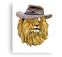 Funny Lion Canvas Print