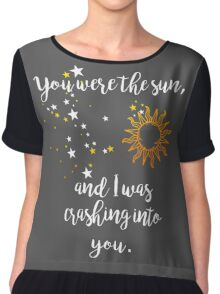 """""""You were the sun"""" Baz - Carry On Quote  Chiffon Top"""