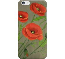 Poppies-3 iPhone Case/Skin