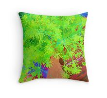 RainbowConfetti Farmers Market - Fresh Dill Throw Pillow