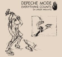 "Depeche Mode : Everything Counts 12"" -2- Black by Luc Lambert"