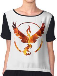 Pokemon Team Valor Flame Logo Chiffon Top