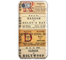 1950s-60s BELFAST & COUNTY DOWN RAILWAY TICKET CUSHION 1 iPhone Case/Skin