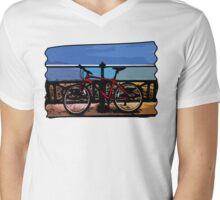 Bike Moments Mens V-Neck T-Shirt