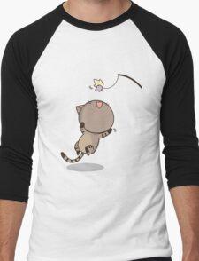 Cat is playing Men's Baseball ¾ T-Shirt