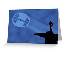 Bodybuilder Light Signal Greeting Card