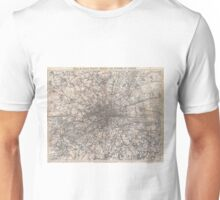 Vintage Map of London England (1900) 2 Unisex T-Shirt