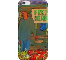Farmers Market Fresh Herbs iPhone Case/Skin