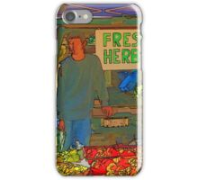 RainbowConfetti Farmers Market Fresh Herbs iPhone Case/Skin