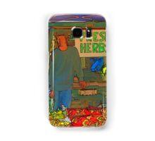 RainbowConfetti Farmers Market Fresh Herbs Samsung Galaxy Case/Skin