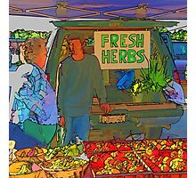 RainbowConfetti Farmers Market Fresh Herbs Photographic Print