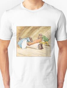 Mice rolling a cat by Beatrix Potter Unisex T-Shirt