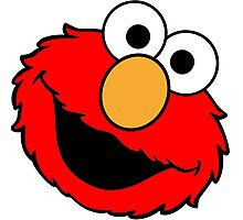 Elmo Big Smile Photographic Print