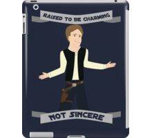 Han Solo: Raised to be Charming iPad Case/Skin