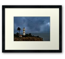 Storm brewing off Point Vicente Framed Print