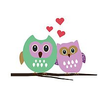 Owl couple by ilovecotton
