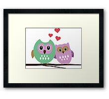 Owl couple Framed Print