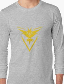 Pokemon Team Instinct Cloud Yellow Long Sleeve T-Shirt