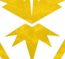 Pokemon Team Instinct Cloud Yellow Sticker