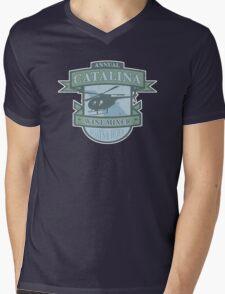 Vintage Catalina WIne Mixer - POW! Mens V-Neck T-Shirt